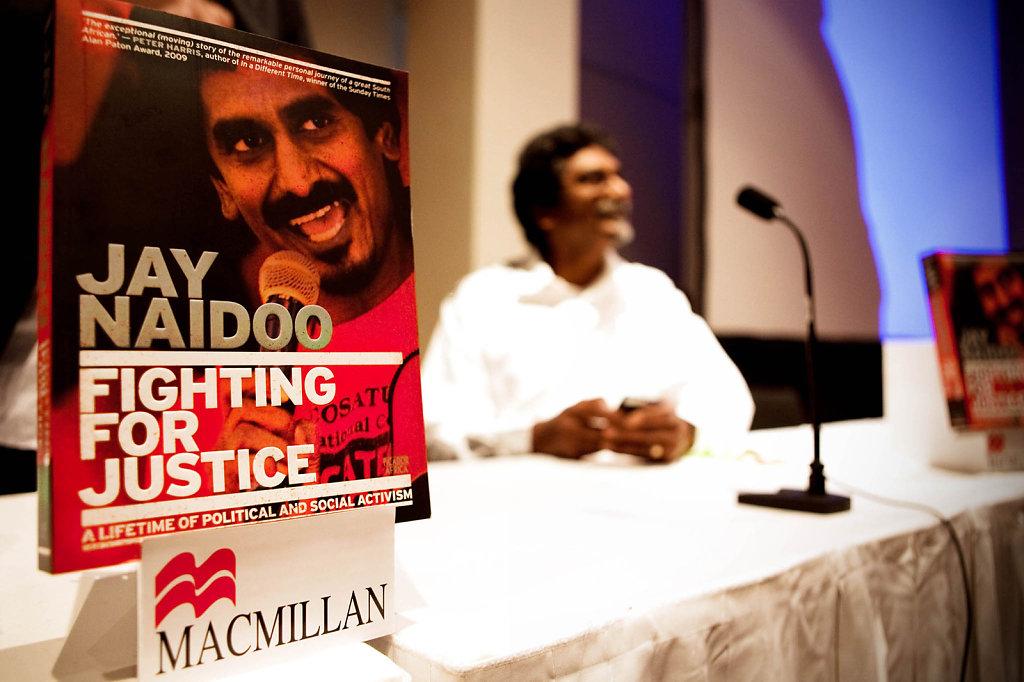 "Jay Naidoo - Pan Macmillan ""Fighting for Justice"" Book Launch & Debate; CTICC"