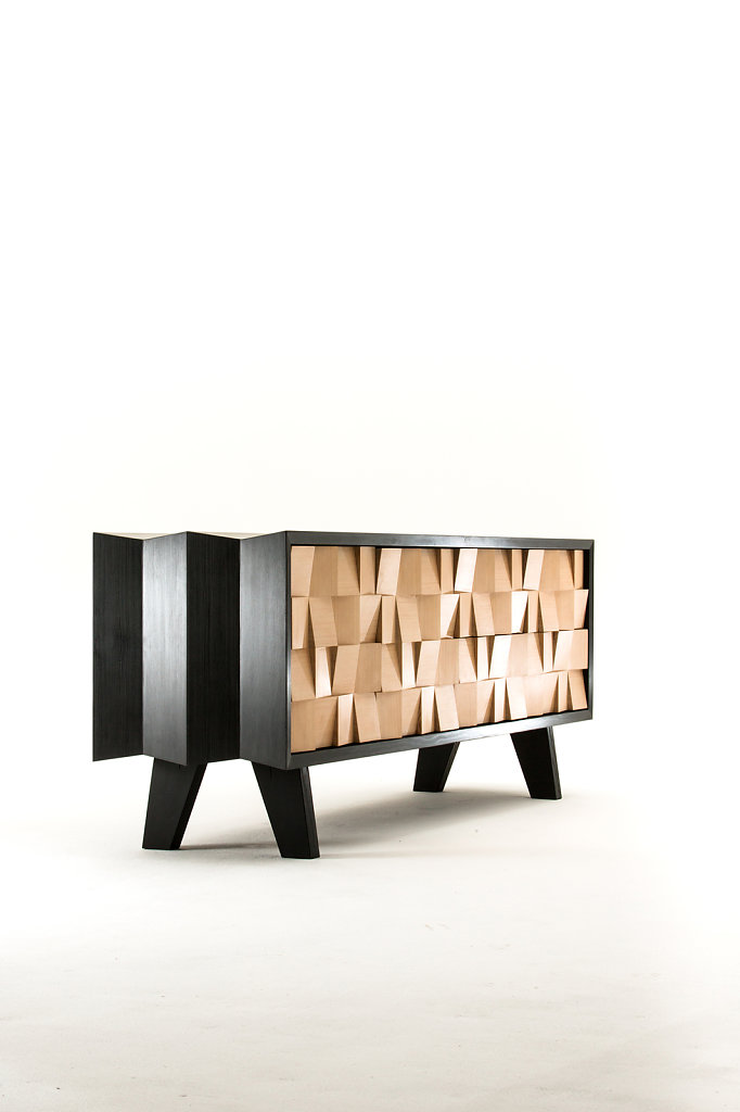 Andrew Dominic - Manu Server in Blue Black Stain, with Naturale Douglas Fir Doors