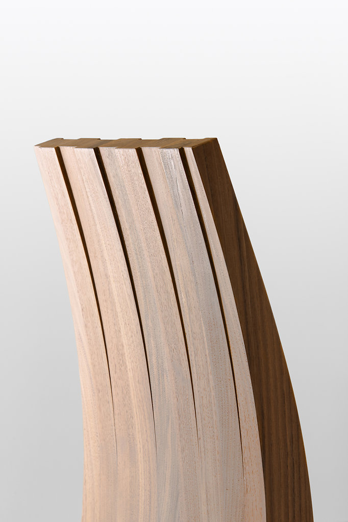 Andrew Dominic - David's Chair - American Walnut Backrest Profile Detail