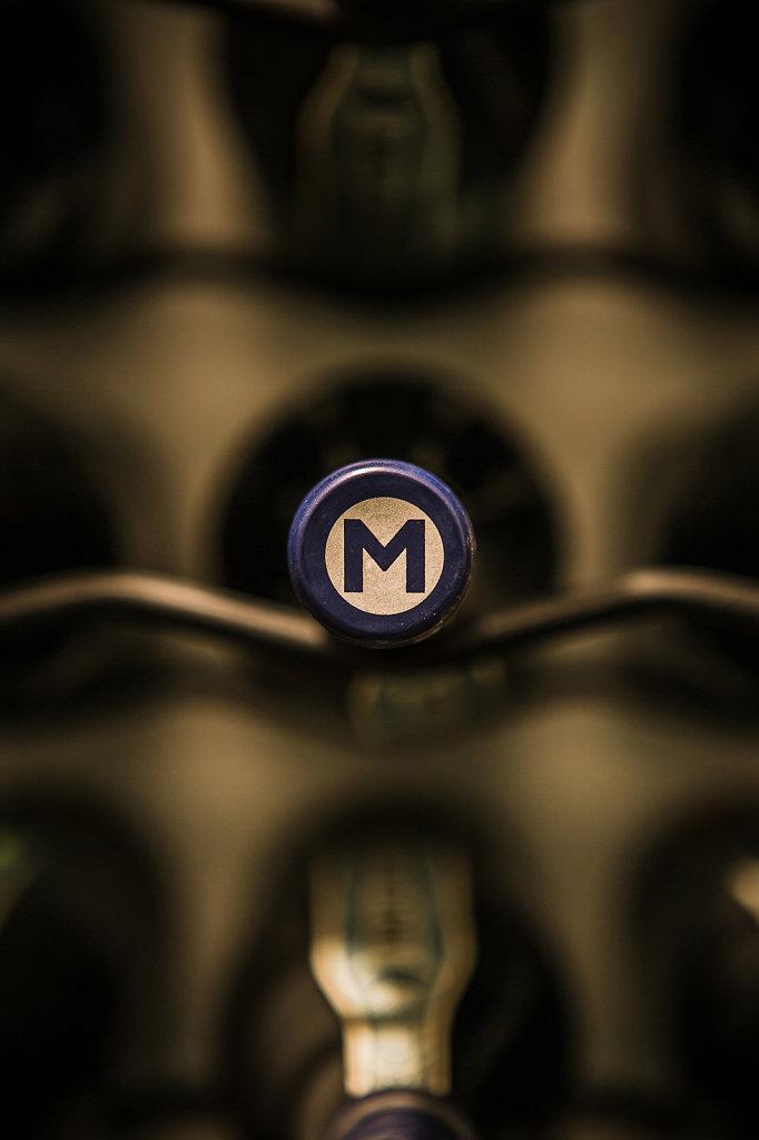 Mulderbosch - Barrel Fermented Chardonnay; Cellar Rack & Bottle Foil Detail