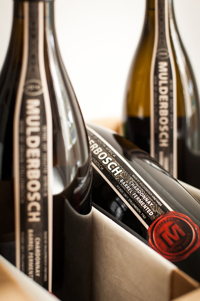Mulderbosch - Barrel Fermented Chardonnay; Vertical Vintage Box Set Packaging Detail